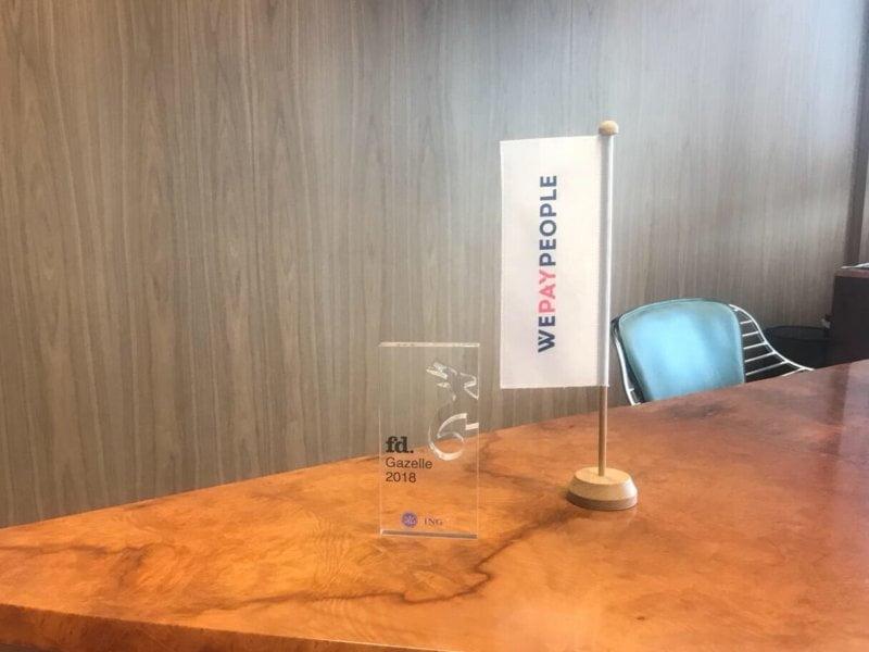 WePayPeople ontvangt voor de achtste keer FD Gazellen